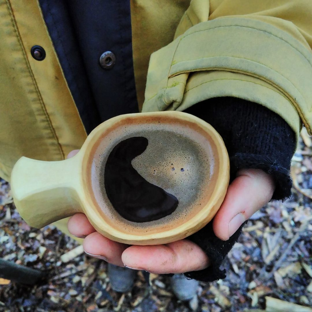 kuksa carving, make a wooden cup